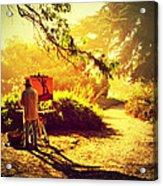 Painting The Path Acrylic Print