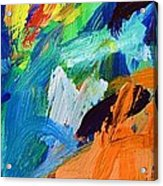 And God Said Let There Be Light - Genesis1 3 - Blue Abstract Expressionist Painting Acrylic Print
