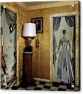 Paintings On The Walls Of Tony Duquette's House Acrylic Print