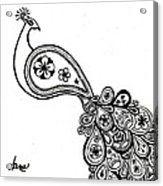 Paisley Peacock Acrylic Print
