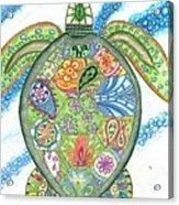 Paisley Sea Turtle Acrylic Print