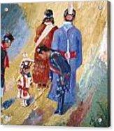 Paiute Children Dressed For The Powwow Acrylic Print