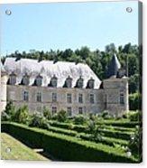Palace And Garden Bussy Rabutin - Burgundy Acrylic Print