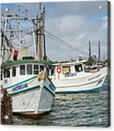 Palacios Texas Two Boats In View Acrylic Print