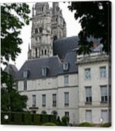 Palais In Tours With Cathedral Steeple Acrylic Print