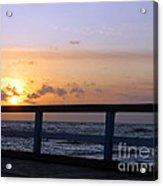 Palanga Sea Bridge At Sunset. Lithuania Acrylic Print