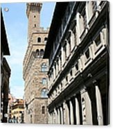 Palazzo Vecchio And Uffizien Acrylic Print