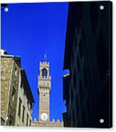 Palazzo Vecchio Clock Tower Acrylic Print