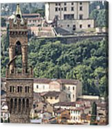 Palazzo Vecchio Tower And Forte Belvedere Acrylic Print