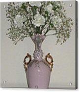 Pale Vase White Flowers Acrylic Print