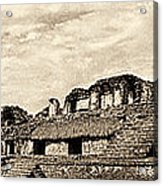 Palenque Panorama Sepia Acrylic Print