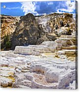 Palette Spring Terrace Panorama - Yellowstone National Park Wyoming Acrylic Print