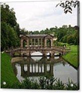 Palladian Bridge At Prior Park Landscape Garden Acrylic Print