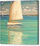 Palm Bay Acrylic Print
