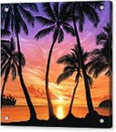 Palm Beach Sundown Acrylic Print