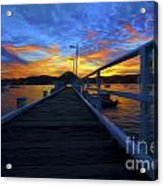 Palm Beach Wharf At Sunset Acrylic Print