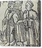 Palm Reading, 16th Century Artwork Acrylic Print
