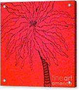 Palm Red Acrylic Print