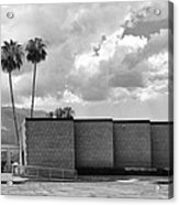 Palm Springs City Hall Bw Palm Springs Acrylic Print