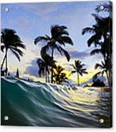 Palm Wave Acrylic Print