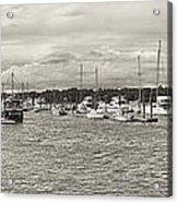 Palmetto Bay Marina Panorama Acrylic Print