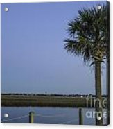 Palmetto View Of Lighthouse Acrylic Print