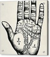 Palmistry. Planetary And Zodiacal Acrylic Print