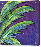 Palms Against The Night Sky Acrylic Print