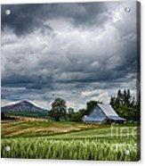 Palouse Farm And Steptoe Butte Acrylic Print