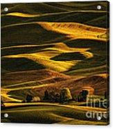 Palouse Sunset From Steptoe Butte Acrylic Print