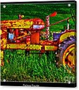 Palouse Tractor Acrylic Print