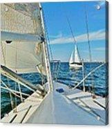 Pamlico Sound Sailing 52 4/14 Acrylic Print
