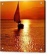 Pamlico Sound Sunset 3 7/26 Acrylic Print