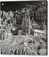 Panaca Sandstone Formations In Black And White Nevada Landscape Acrylic Print