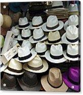 Panama Hats In Ecuador Acrylic Print