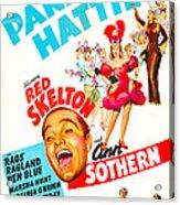Panama Hattie, Us Poster, Center Acrylic Print