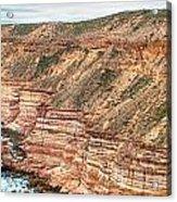 Panaromic Photo Of Red Bluff Beach Acrylic Print
