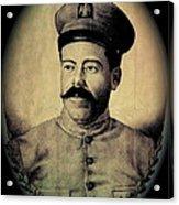 Pancho Villa In Military Uniform Drawing No  Date-2013  Acrylic Print