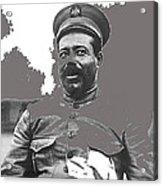 Pancho Villa  Portrait In Military Uniform No Location Or Date-2013 Acrylic Print