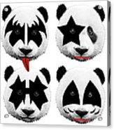 Panda Kiss  Acrylic Print