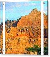 Panels Of A Canyon Acrylic Print