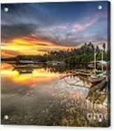 Panglao Port Sunset Acrylic Print