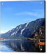 Pano Of A Man With His Fuhr Boat Acrylic Print