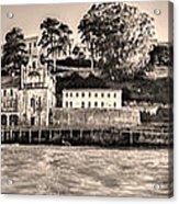 Panorama Alcatraz Shaky Sepia Acrylic Print