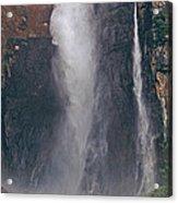 Panorama Angel Falls In Canaima National Park Venezuela Acrylic Print