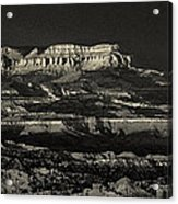 Panorama Bryce Canyon Storm In Black And White Acrylic Print