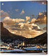 Panorama Cape Town Harbour At Sunset Acrylic Print
