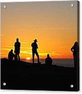 Panorama Everyone Likes A Sunset Acrylic Print