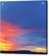 Panorama Fire In The Sky Sunset Acrylic Print