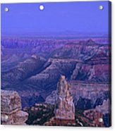 Panorama Moonrise Over Point Imperial Grand Canyon National Park Acrylic Print